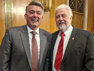 U.S. Senator Cory Gardner and GLBRC Director Tim Donohue